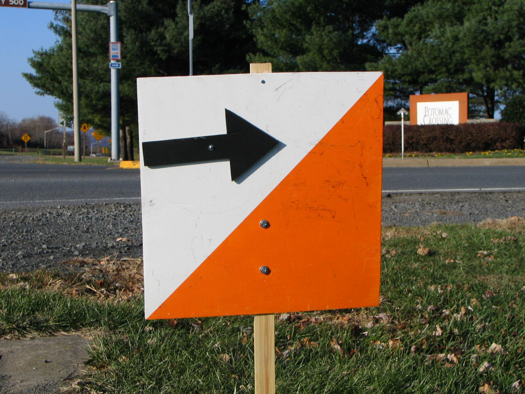 Orienteering Road Sign
